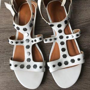 Rebecca Minkoff 'Santana' White Studded sandal